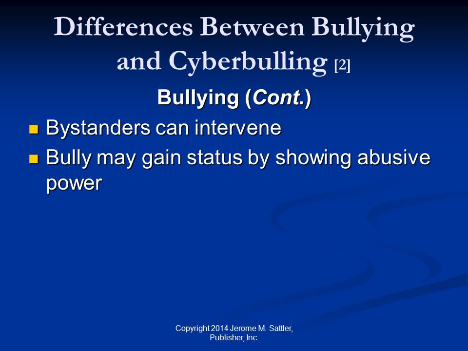 Differences Between Bullying and Cyberbulling [2]